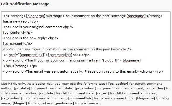 آموزش تنظیمات پلاگین پاسخ خودکار به دیدگاه کاربران وردپرس Comment Reply Notification
