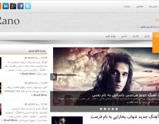 دانلود قالب وردپرس فارسی شده Rano مناسب سایت های تفریحی