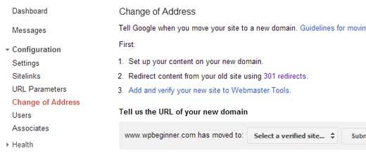 تغییر آدرس سایت وردپرسی