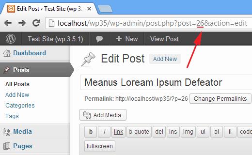 پیدا کردن شناسه id مطالب در وردپرس
