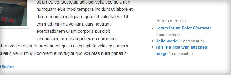 کد نمایش پربازدیدترین مطالب در وردپرس