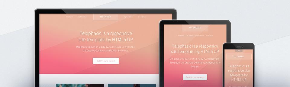 قالب html با طراحی تخت telephasic
