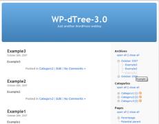 افزونه درختی کردن دسته بندی وردپرس و بایگانی وردپرس WordPress dTree