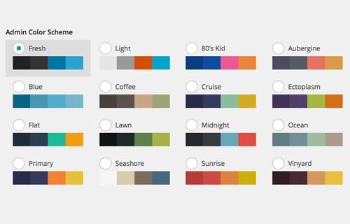 متن اموزشی چگونگی انتخاب رنگ پنل مدیریت وردپرس,تغییر رنگ بخش مدیریت وردپرس
