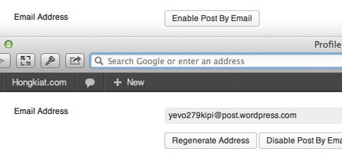 درج پست از طریق ایمیل در وردپرس