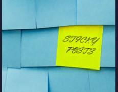 فیلم آموزش پیاده سازی پست های sticky در طراحی قالب وردپرس